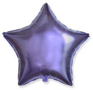 Воздушный шар Звезда Сиреневый.