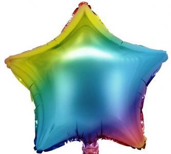 Воздушный шар Звезда Радужная Blue.