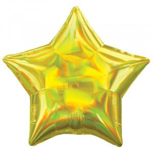 Воздушный шар Звезда Жёлтый Перламутр.