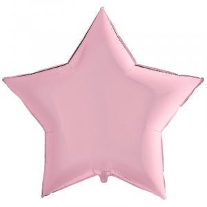 Воздушный шар Большая Звезда Пастель Розовая.