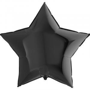 Воздушный шар Большая Звезда Чёрная.