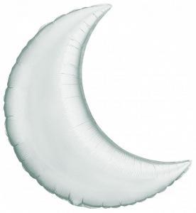 Воздушный шар Полумесяц Серебро.
