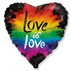 Воздушный шар c гелием Красочная любовь.