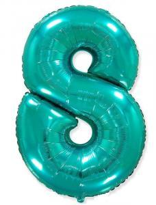 Воздушный шар c гелием Цифра 8 Тиффани.