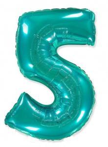 Воздушный шар c гелием Цифра 5 Тиффани.