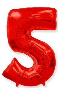 Воздушный шар c гелием Цифра Красная.