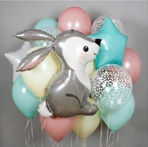 Букет из воздушных шаров Милый зайка.