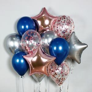 Букет из воздушных шаров Reflex Rose Gold.