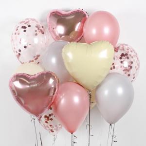 Букет из воздушных шаров Розовое счастье.