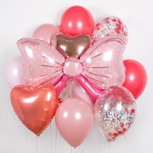 Букет из воздушных шаров Бантик для девочки.