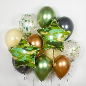 Букет из воздушных шаров Шар цвета хаки.