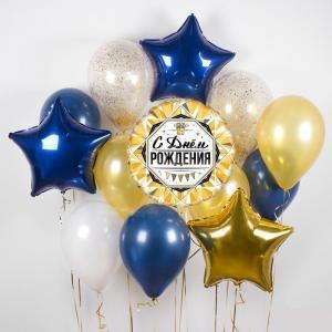 Букет из воздушных шаров Звездное День Рождение.