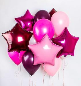 Букет из воздушных шаров  Фиолетовый единорог.